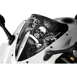 Sportech Royal Windscreen Black - 2010 Yamaha YZF - R6 Sportech Argyle Series Windscreen