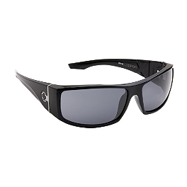 Spy Cooper XL Sunglasses - Yamaha Star Accessories Tear Drop Ball Milled Billet Mirrors - Left