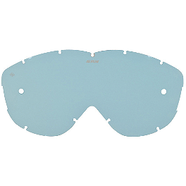 Spy Alloy & Targa Lens With Posts - Blue With Blue Spectra - Spy Alloy And Targa Anti-Fog Lens With Posts - Silver Mirror