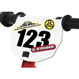 Strider Number Plate Kit - Strider ST-4 No-Pedal Balance Bike