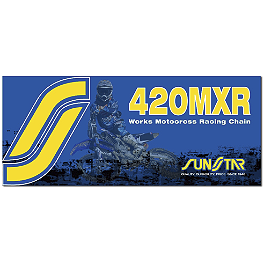 Sunstar 420 MXR1 Works MX Racing Chain - 126 Links - DID 420 NZ3 Gold Chain - 126 Links
