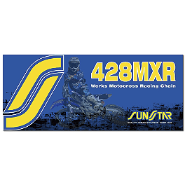 Sunstar 428 MXR1 Works MX Racing Chain - 134 Links - BikeMaster 428 Heavy-Duty Chain - 120 Links