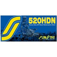Sunstar 520 HDN Heavy Duty Non-Sealed Chain - 120 Links