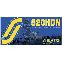 Sunstar 520 HDN Heavy Duty Non-Sealed Chain - 120 Links - 2007 Suzuki DRZ400S Sunstar HDN Chain & Steel Sprocket Combo