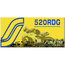 Sunstar 520 Road Dualguard Sealed Chain - 120 Links - 1996 Suzuki RF 600R Sunstar Steel Rear Sprocket 530