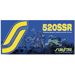 Sunstar 520 SSR O-Ring Sealed Ring Chain - 120 Links - 2004 Suzuki DRZ400S Sunstar Aluminum Rear Sprocket