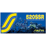 Sunstar 520 SSR O-Ring Sealed Ring Chain - 120 Links - Suzuki DR200SE Dirt Bike Drive