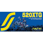 Sunstar 520 XTG Tripleguard Sealed ATV & Offroad Chain - 100 Links - Dirt Bike Chains and Master Links