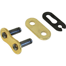 Sunstar 520 SSR O-Ring Sealed Ring Chain Master Link - Clip Style - EK Chains 520 MVXZ X-Ring Master Link - Clip Style / Gold