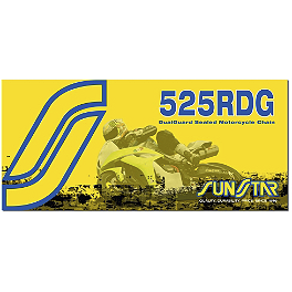 Sunstar 525 RDG Dualguard Sealed Chain - 120 Links - 2002 Yamaha FZ1 - FZS1000 Sunstar Steel Rear Sprocket 530