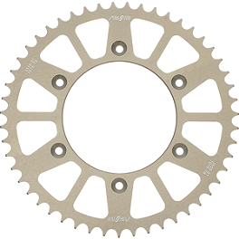 Sunstar Aluminum Rear Sprocket - 2000 Kawasaki KX100 Sunstar Chain & Steel Sprocket Combo