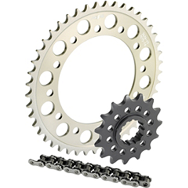 Sunstar Aluminum Sprocket & Chain Kit 520 - 2004 Suzuki SV1000S Sunstar Steel Rear Sprocket 530