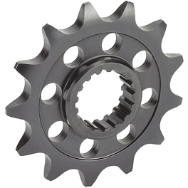 Sunstar Front Sprocket - 2000 Honda CR80 Big Wheel Sunstar Chain & Steel Sprocket Combo