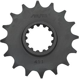 Sunstar Front Sprocket 520 - 2004 Suzuki SV1000S Sunstar Steel Rear Sprocket 530