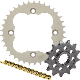 Sunstar Chain & Aluminum Sprocket Combo - 1989 Kawasaki KX125 Sunstar HDN Chain & Steel Sprocket Combo
