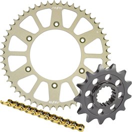 Sunstar Chain & Aluminum Sprocket Combo - 1999 Kawasaki KX100 Sunstar Chain & Steel Sprocket Combo