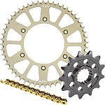 Sunstar Chain & Aluminum Sprocket Combo - Kawasaki KX100 Dirt Bike Drive