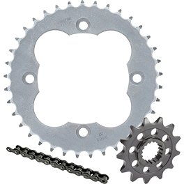 Sunstar ATV HDN Chain & Steel Sprocket Combo - 2009 Suzuki LTZ400 Sunstar Aluminum Rear Sprocket