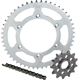 Sunstar HDN Chain & Steel Sprocket Combo - 2004 Kawasaki KLX400R Sunstar Aluminum Rear Sprocket