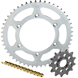 Sunstar Chain & Steel Sprocket Combo - 2000 Honda CR80 Big Wheel Sunstar Aluminum Rear Sprocket