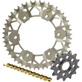 Sunstar Chain & Works Z Sprocket Combo - 2001 KTM 400MXC Sunstar HDN Chain & Steel Sprocket Combo