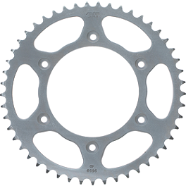 Sunstar Steel Rear Sprocket - 2000 Kawasaki KLR650 Sargent World Sport Performance Seat With Black Welt