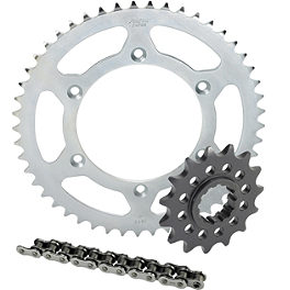 Sunstar Steel Sprocket & Chain Kit 530 - 2002 Honda VFR800FI - Interceptor ABS Sunstar Steel Rear Sprocket 530