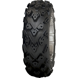 STI Black Diamond Radial XTR Tire - 25x10-12 - 2006 Yamaha KODIAK 400 4X4 STI Slasher Complete Axle - Front Left/Right