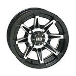 STI HD2 Front Or Rear Wheel - 12X7 4+3 Black - STI-FOUR STI Utility ATV