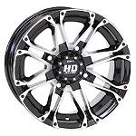 STI HD3 Front Or Rear Wheel - 12X7 4+3 Machined With Black - STI-FOUR STI Utility ATV