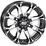 STI HD3 Rear Wheel - 12X7 5+2 Machined With Black - STI-FOUR STI Utility ATV