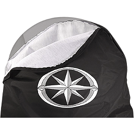 Yamaha Star Accessories Windshield Storage Bag - Danny Gray Medium Passenger Bigseat - Plain
