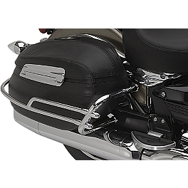 Yamaha Star Accessories Hard Leather Saddlebag Trim Rails - Yamaha Star Accessories Black Luggage Rack
