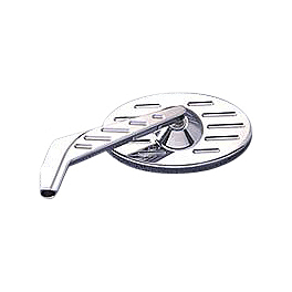 Yamaha Star Accessories Billet Oval Left Mirror - Ball Milled - Yamaha Star Accessories