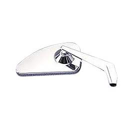 Yamaha Star Accessories Billet Left Mirror - Smooth - Yamaha Star Accessories Open Face Helmet Headset
