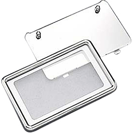 Yamaha Star Accessories Custom License Plate Frame - Smooth - Yamaha Star Accessories Billet Oval Left Mirror - Ball Milled
