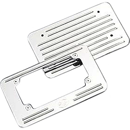 Yamaha Star Accessories Custom License Plate Frame - Ball Milled - Yamaha Star Accessories Rear Luggage Rack