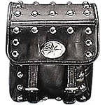 Yamaha Star Accessories Leather Backrest Bag - Studded - Cruiser Sissy Bar Bags