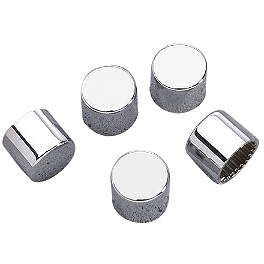 Yamaha Star Accessories Pulley Nut Covers - Chrome - 2009 Yamaha Roadliner 1900 S - XV19S Yamaha Star Accessories Braided Stainless Steel Clutch Line