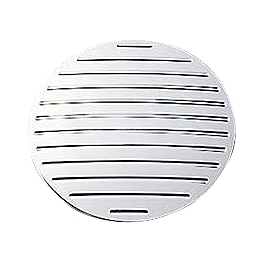 Yamaha Star Accessories Billet Drive Pulley Covers - Ball Milled - Yamaha Star Accessories Billet Drive Cover - Flamed