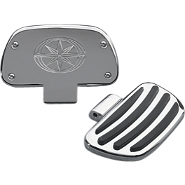 Yamaha Star Accessories Replacement Floorboard Rubber - Yamaha Star Accessories Travel Trunk Wing with Light - Raspberry Metallic