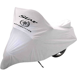 Yamaha Star Accessories White Dust Cover - Yamaha Star Accessories Quick Release Tall Midnight Windshield - 19