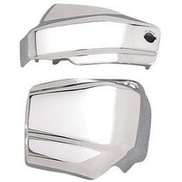 Yamaha Star Accessories Battery Side Covers - Chrome - 1999 Yamaha V Star 650 Classic - XVS650A Yamaha Star Accessories Classic Deluxe Saddlebags - Plain