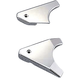 Yamaha Star Accessories Billet Rear Swingarm Cover - Smooth - Cobra Brake Reservoir Cover - Scalloped