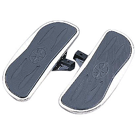 Yamaha Star Accessories Rider Floorboards - Chrome - 2008 Yamaha V Star 650 Silverado - XVS65AT Yamaha Star Accessories Rear Fender Rack