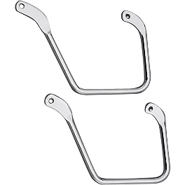 Yamaha Star Accessories Saddlebag Support Bars - 2009 Yamaha Raider 1900 - XV19C Yamaha Star Accessories Rear Chrome Luggage Rack - Short