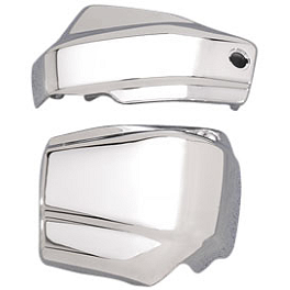 Yamaha Star Accessories Battery Side Covers - Chrome - 2002 Yamaha V Star 1100 Classic - XVS1100A Yamaha Star Accessories Classic Deluxe Saddlebags - Plain