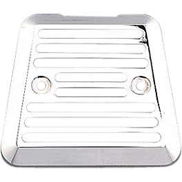 Yamaha Star Accessories Billet Rectifier Cover - Smooth - Yamaha Star Accessories Travel Trunk Wing with Light - Liquid Silver