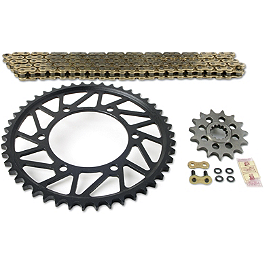 Superlite 520 Sprocket And Chain Kit - Quick Acceleration - 2004 Kawasaki ZX636 - Ninja ZX-6R Vortex Sprocket & Chain Kit 520 - Black