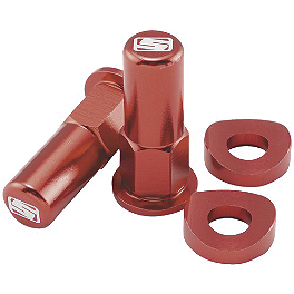 Sunline Rim Lock Tower Nut Kit - 2001 Suzuki RM125 Sunline Forged OEM Brake Lever - Red